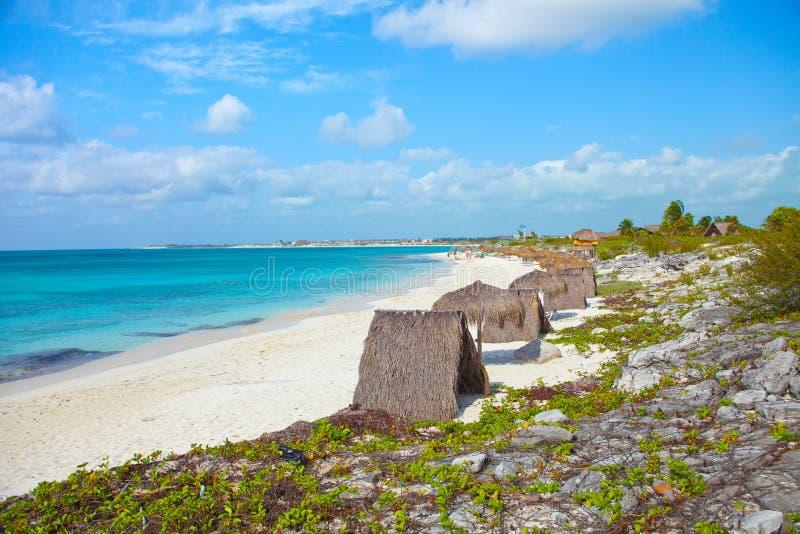 Βραδύτατη παραλία Κούβα Cayo στοκ εικόνες