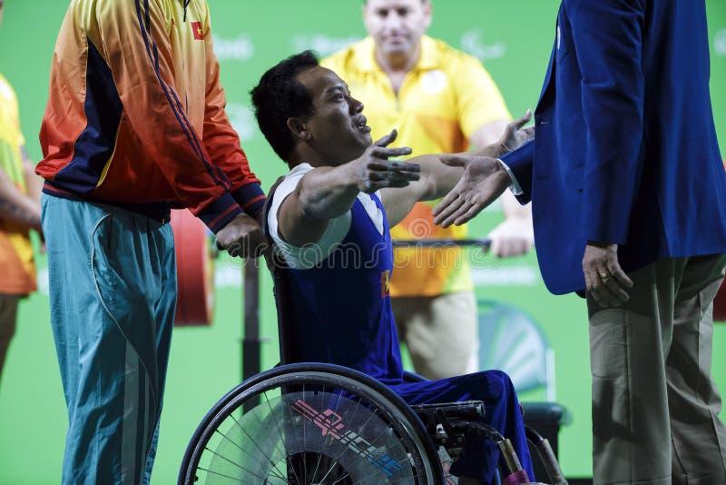 Βραζιλία - Ρίο ντε Τζανέιρο - ανύψωση βάρους παιχνιδιών 2016 Paralympic στοκ εικόνες