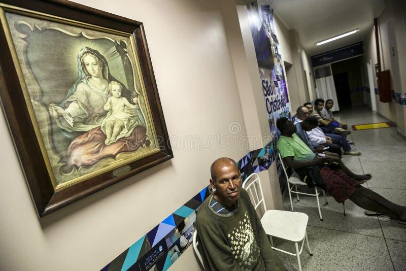 Βραζιλία - SAN Paolo - το ONG Sermig - ελεύθερη οδοντική λειτουργία για τους αστέγους στοκ εικόνα με δικαίωμα ελεύθερης χρήσης