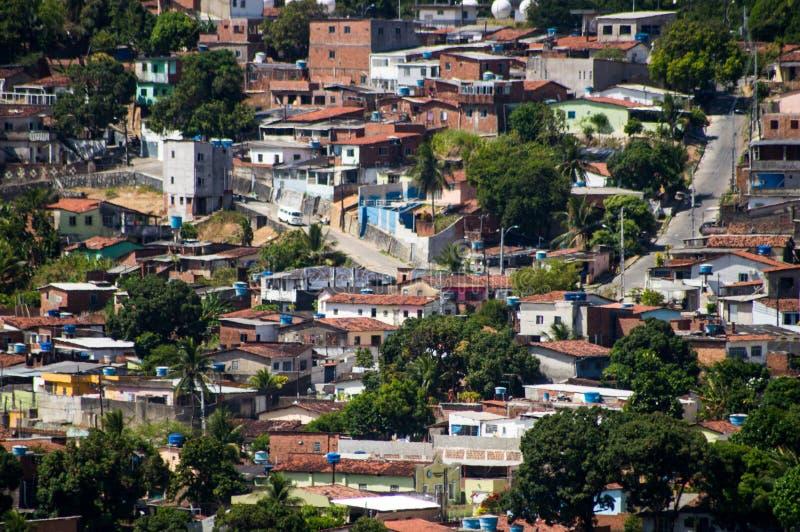Βραζιλιάνα γειτονιά εργατικών τάξεων στοκ εικόνες