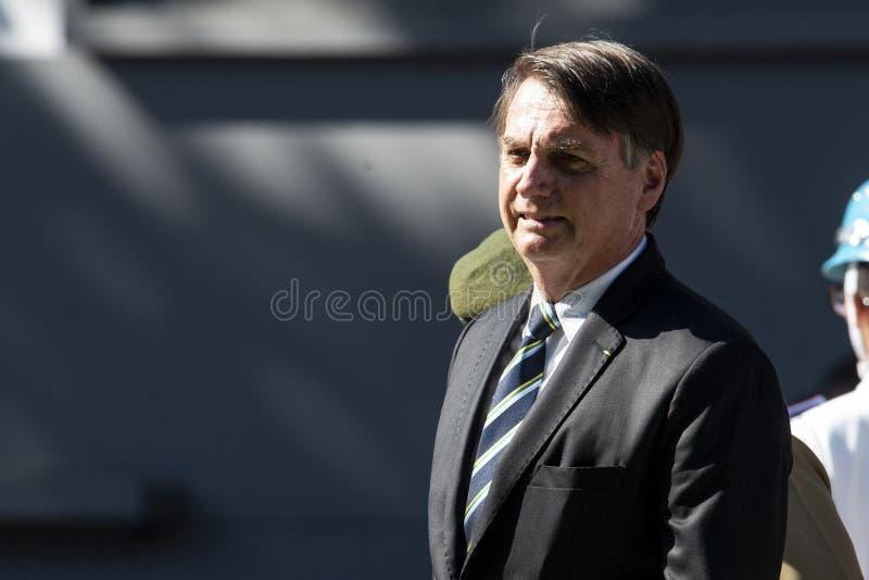 Βραζιλιάνος Πρόεδρος Jair Bolsonaro στοκ εικόνες
