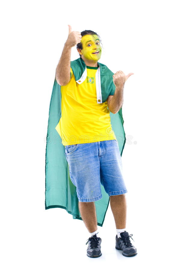 βραζιλιάνος υποστηρικτή στοκ εικόνες