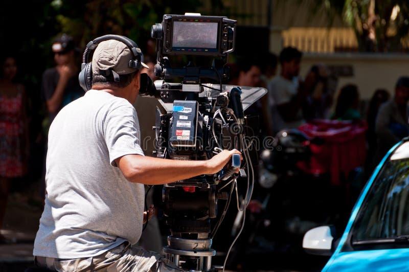 Βραζιλιάνα μαγνητοσκόπηση επεισοδίου σαπουνοπερών στοκ φωτογραφίες