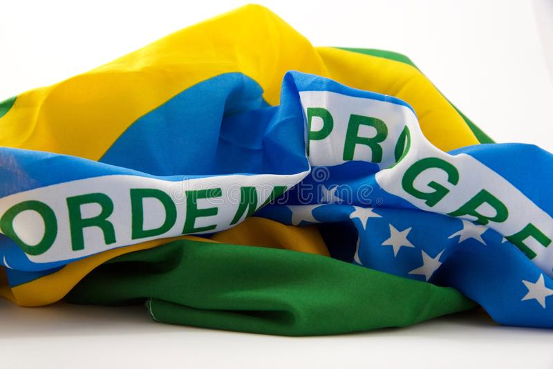 βραζιλιάνα σημαία στοκ φωτογραφία με δικαίωμα ελεύθερης χρήσης
