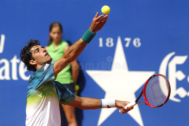 Βραζιλιάνος τενίστας Thomaz Bellucci στοκ εικόνες