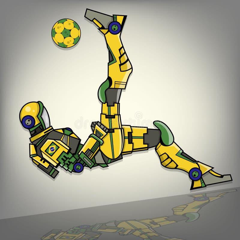 Βραζιλιάνο ρομπότ ποδοσφαίρου απεικόνιση αποθεμάτων