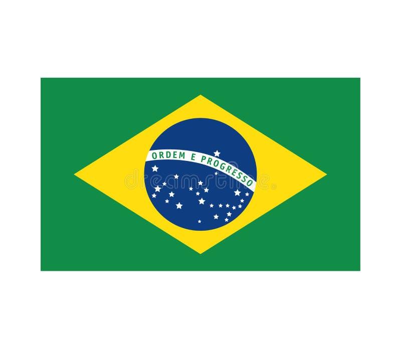 Βραζιλιάνο σχέδιο σχεδίων σημαιών απεικόνιση αποθεμάτων