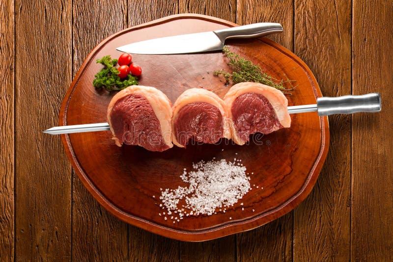 Βραζιλιάνο Picanha κρέας ακατέργαστο στοκ εικόνες