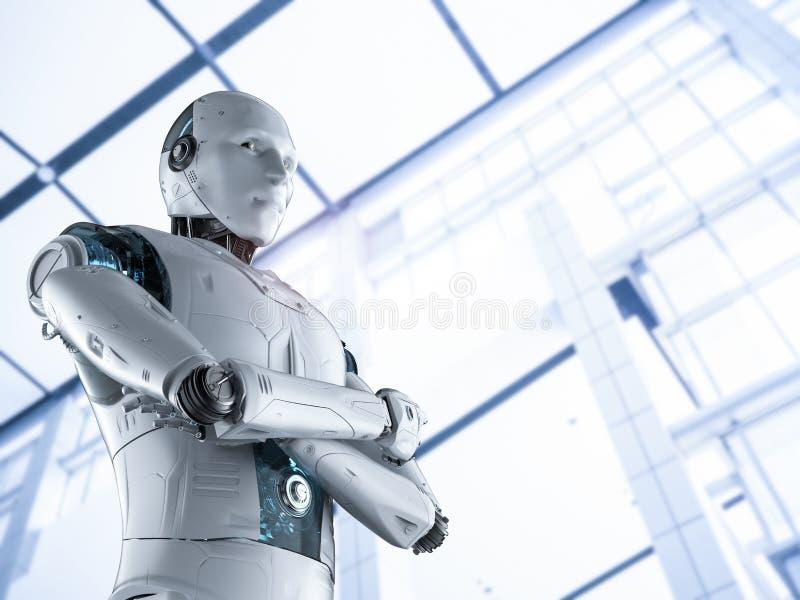 Βραχίονας ρομπότ που διασχίζεται στοκ εικόνα
