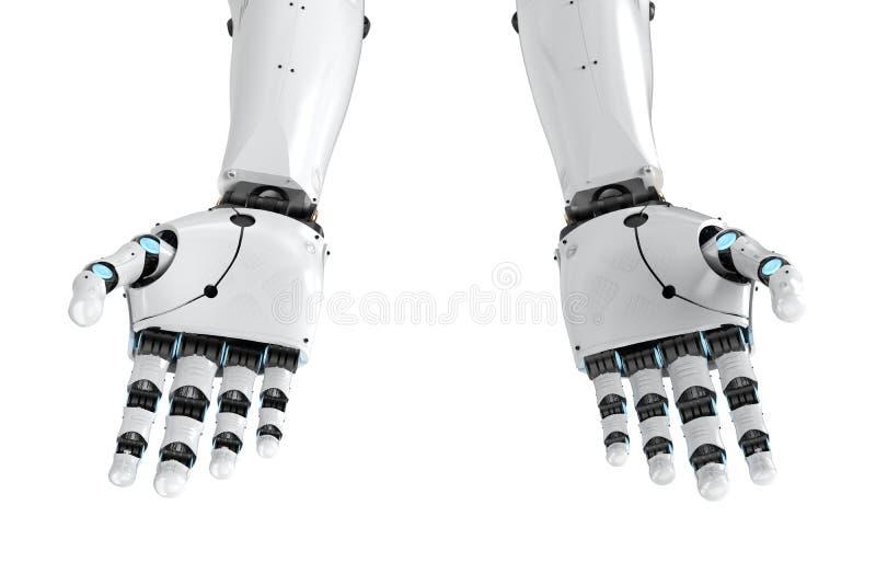 Βραχίονας Cyborg που απομονώνεται στοκ εικόνες με δικαίωμα ελεύθερης χρήσης