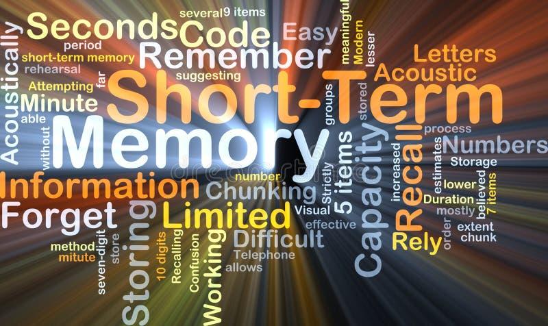 Βραχυπρόθεσμη πυράκτωση έννοιας υποβάθρου μνήμης απεικόνιση αποθεμάτων