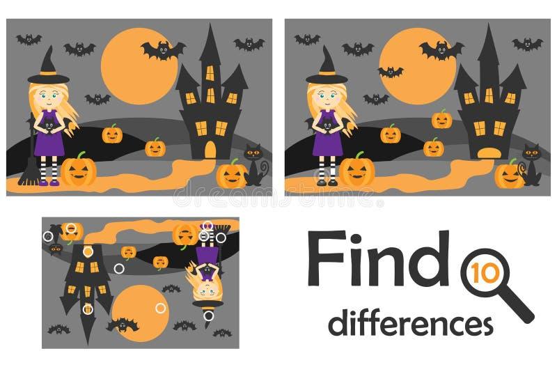 Βρείτε 10 διαφορές, παιχνίδι για τα παιδιά, εικόνα αποκριών στο ύφος κινούμενων σχεδίων, παιχνίδι εκπαίδευσης για τα παιδιά, προσ ελεύθερη απεικόνιση δικαιώματος