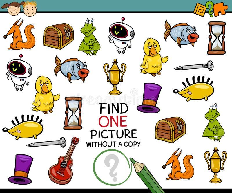 Βρείτε τα ενιαία κινούμενα σχέδια παιχνιδιών εικόνων ελεύθερη απεικόνιση δικαιώματος