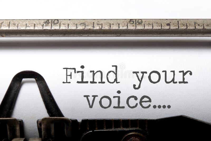 Βρείτε την έμπνευση φωνής σας στοκ φωτογραφίες