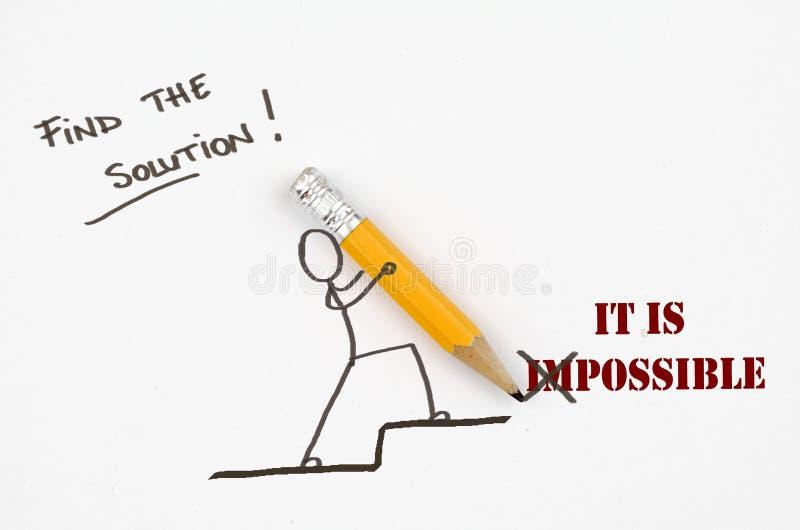 Βρείτε τη λύση! Είναι δυνατό στοκ φωτογραφία με δικαίωμα ελεύθερης χρήσης