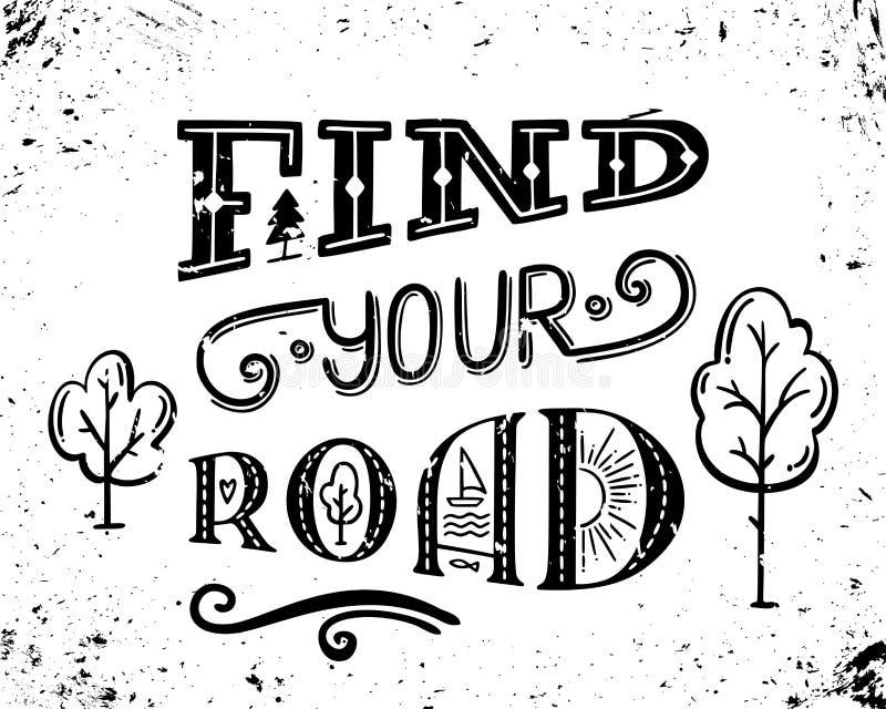 Βρείτε το δρόμο σας διανυσματική απεικόνιση