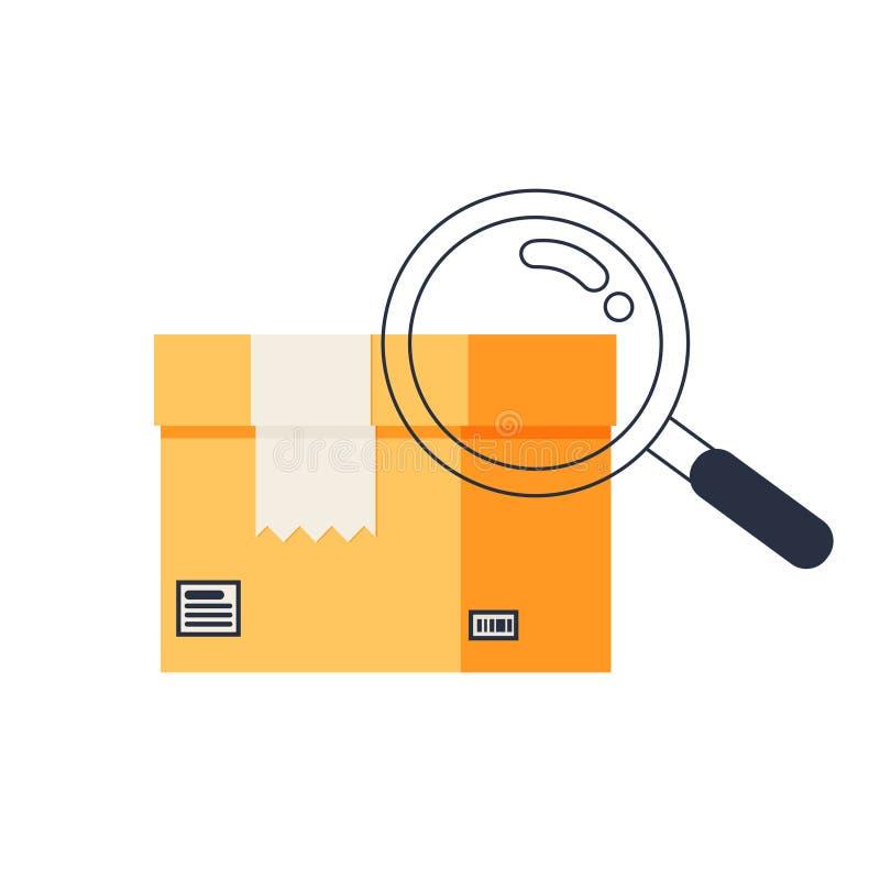 Βρείτε το στοιχείο σχεδίου λογότυπων εικονιδίων παράδοσης απεικόνιση αποθεμάτων