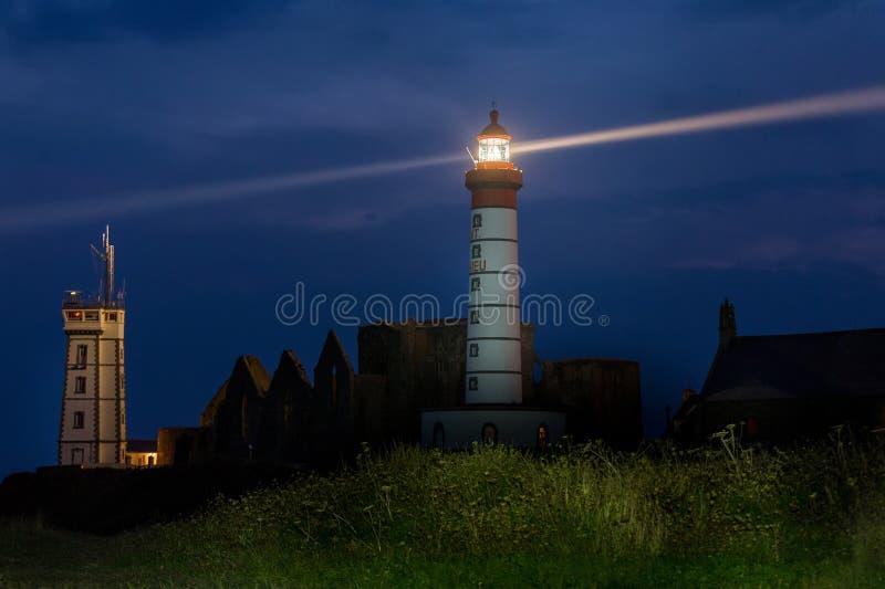 Βρετάνη conquet Γαλλία LE lighthouse Mathieu Άγιος στοκ εικόνα με δικαίωμα ελεύθερης χρήσης