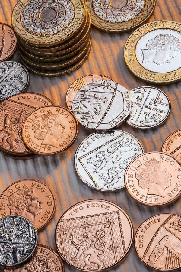 Βρετανικά νομίσματα - Ηνωμένο Βασίλειο στοκ εικόνα με δικαίωμα ελεύθερης χρήσης