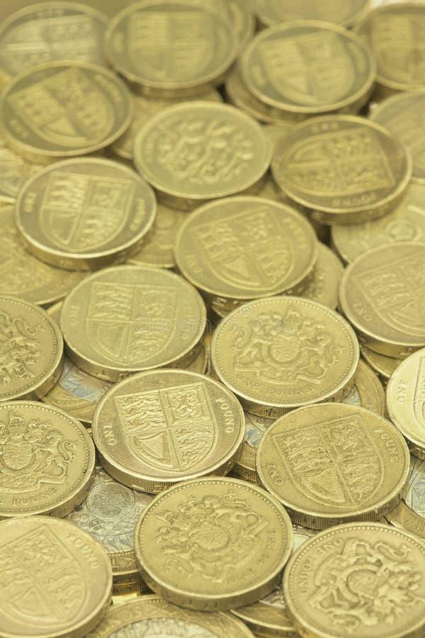 βρετανικά νομίσματα μια λί&be στοκ εικόνα με δικαίωμα ελεύθερης χρήσης