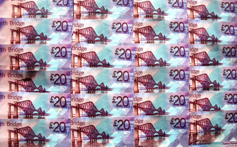 Βρετανικά χρήματα. στοκ φωτογραφίες