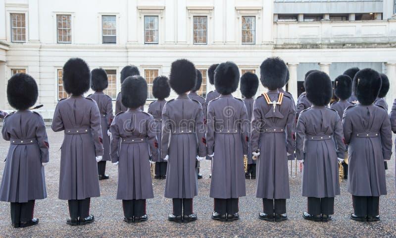 Βρετανικές βασιλικές φρουρές, Λονδίνο στοκ εικόνα