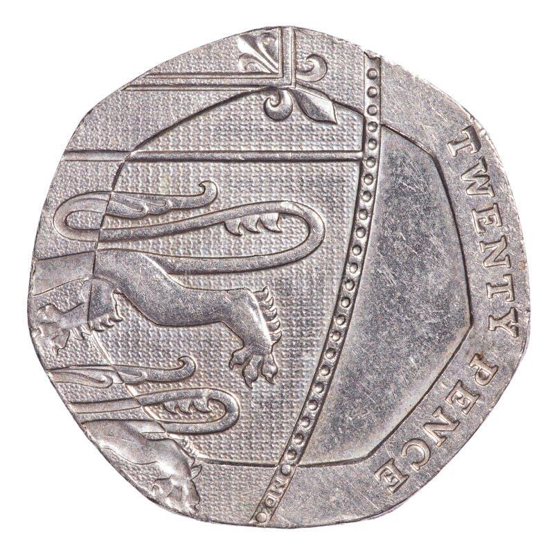 20 βρετανικές πένες νομισμάτων στοκ φωτογραφία με δικαίωμα ελεύθερης χρήσης