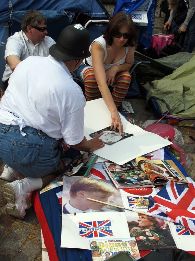 Βρετανική βασιλική δυναστεία συλλογής ανεμιστήρων στοκ φωτογραφία