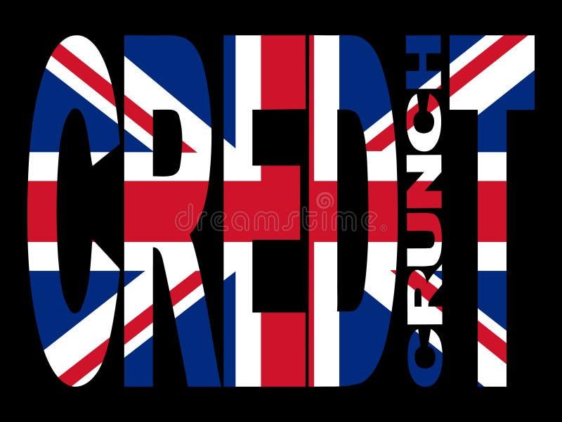 βρετανική πιστωτική κρίσιμη στιγμή διανυσματική απεικόνιση