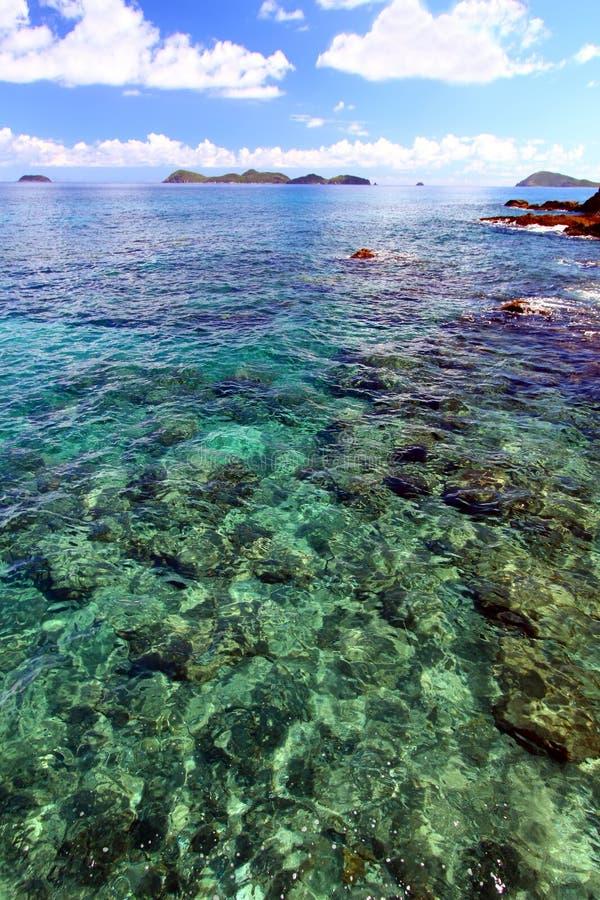 βρετανική σκηνή Virgin νησιών στοκ εικόνες