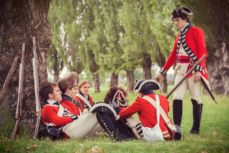 βρετανικοί στρατιώτες σ&tau στοκ εικόνες