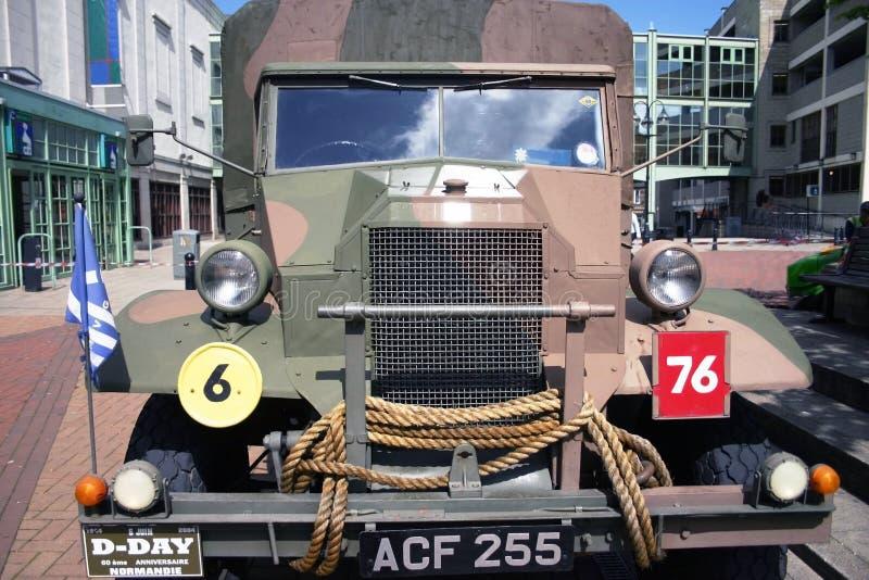 Βρετανικός παγκόσμιος πόλεμος 2 φορτηγό στρατού στοκ εικόνα