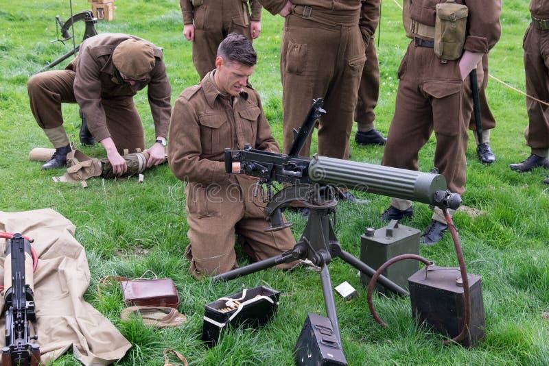 Βρετανικός στρατός Vickers πολυβόλο 303 στοκ φωτογραφία με δικαίωμα ελεύθερης χρήσης