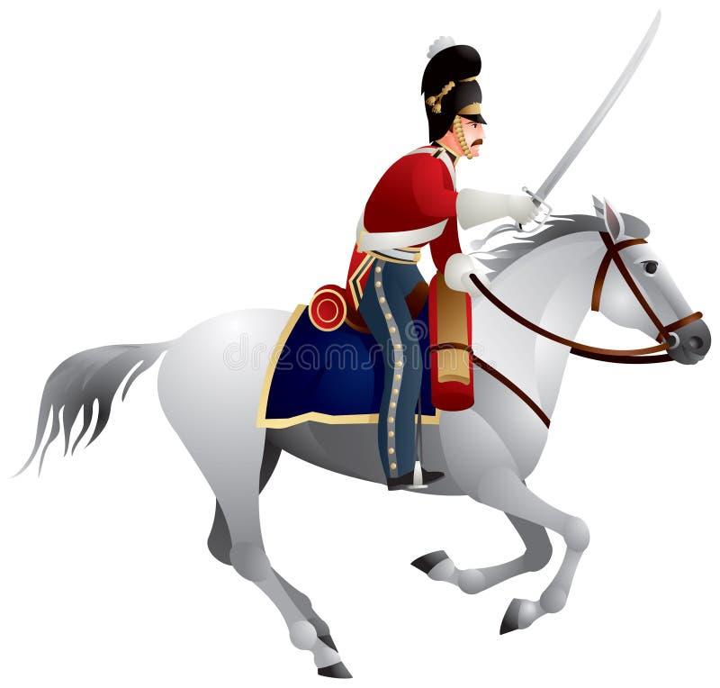 βρετανικό ιππικό στρατού διανυσματική απεικόνιση
