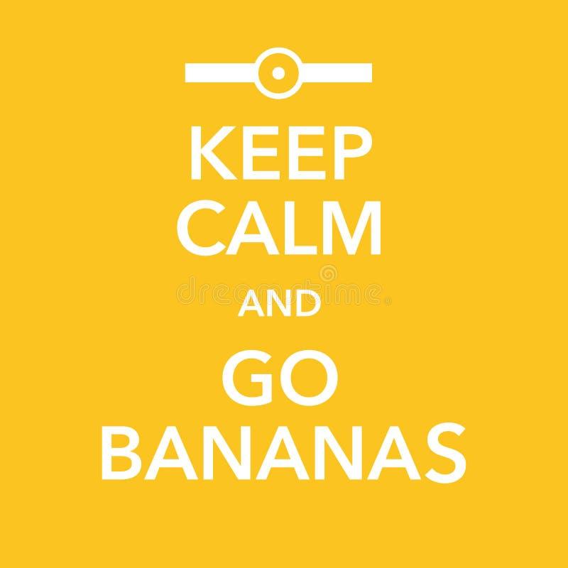 Βρετανικό κινητήριο αντίγραφο αφισών με το αστείο μπανανών απεικόνιση αποθεμάτων