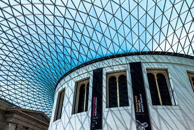 Βρετανικό μουσείο μέσα στο εσωτερικό Λονδίνο στοκ εικόνα
