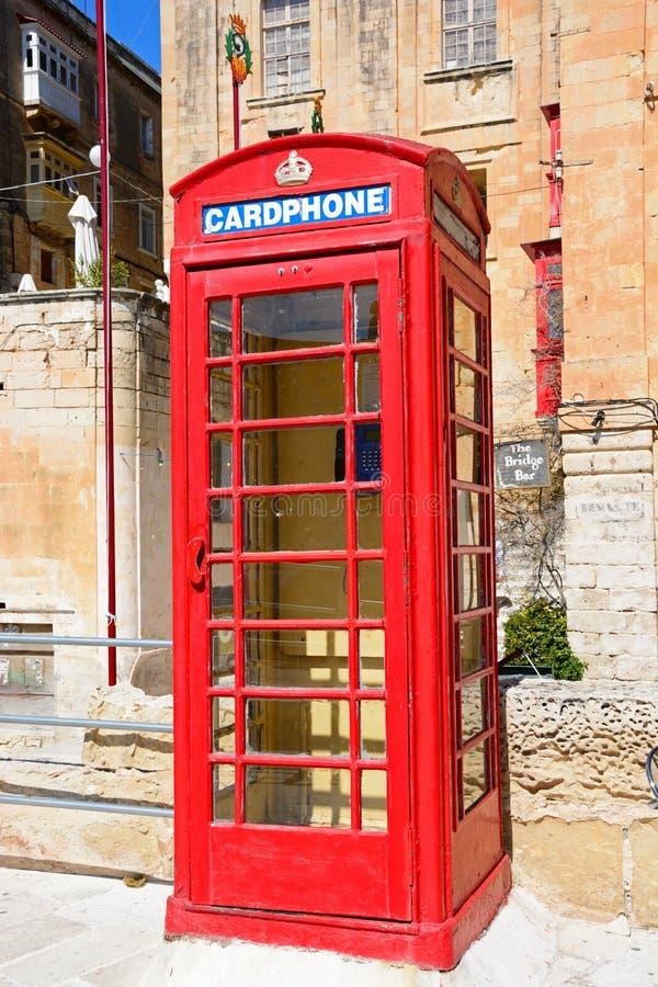 Βρετανικό τηλεφωνικό περίπτερο, Valletta στοκ φωτογραφία με δικαίωμα ελεύθερης χρήσης