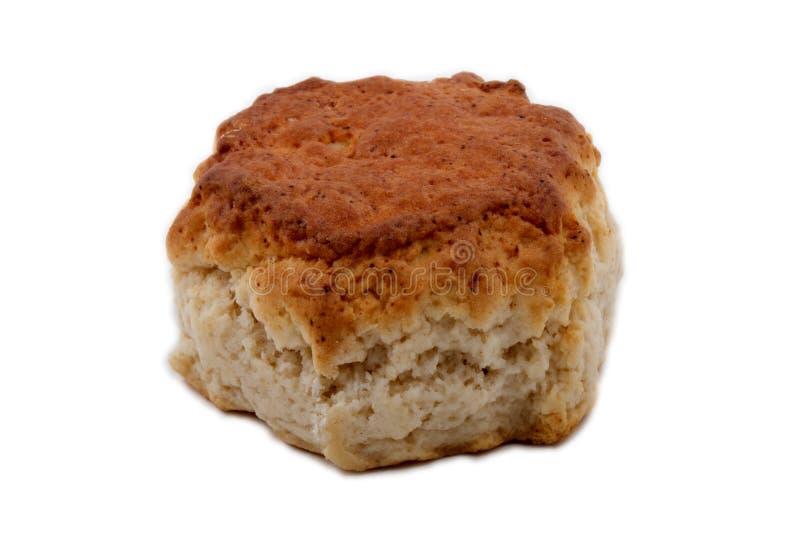 Βρετανικό scone teatime που απομονώνεται στο λευκό στοκ φωτογραφία με δικαίωμα ελεύθερης χρήσης