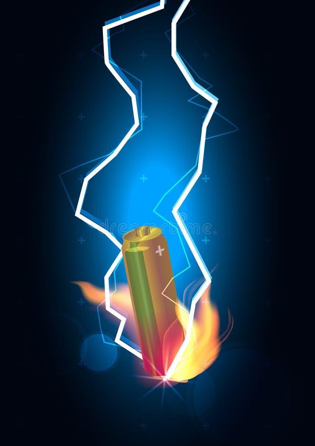 Βροντή ισχύος της μπαταρίας στοκ εικόνα με δικαίωμα ελεύθερης χρήσης