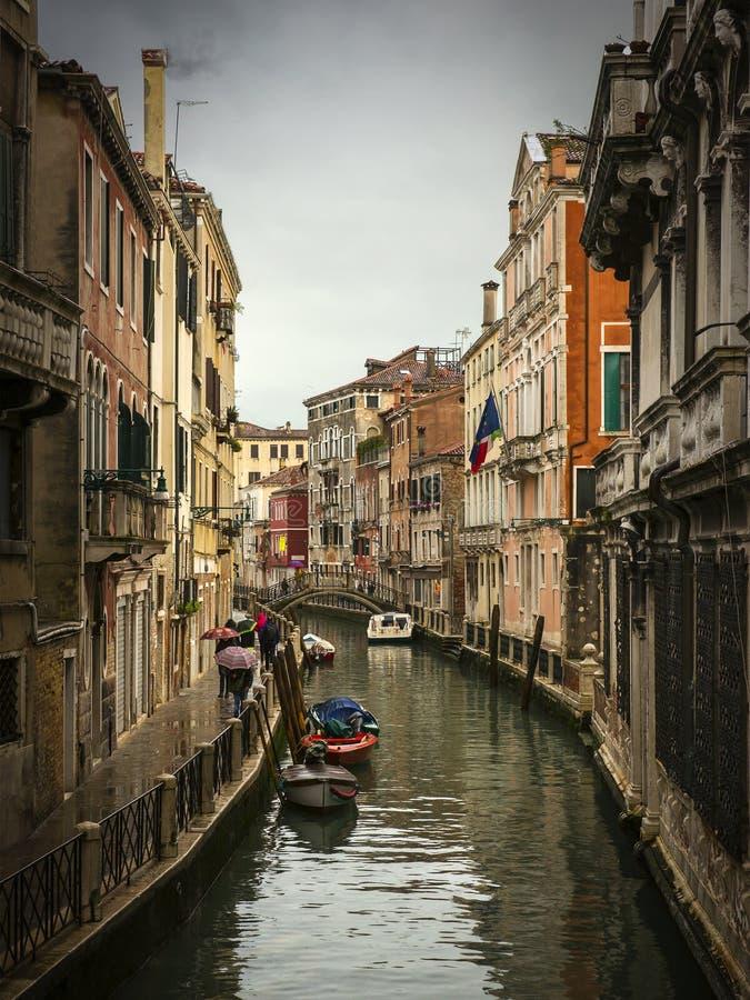 βροχή Βενετία στοκ φωτογραφία με δικαίωμα ελεύθερης χρήσης