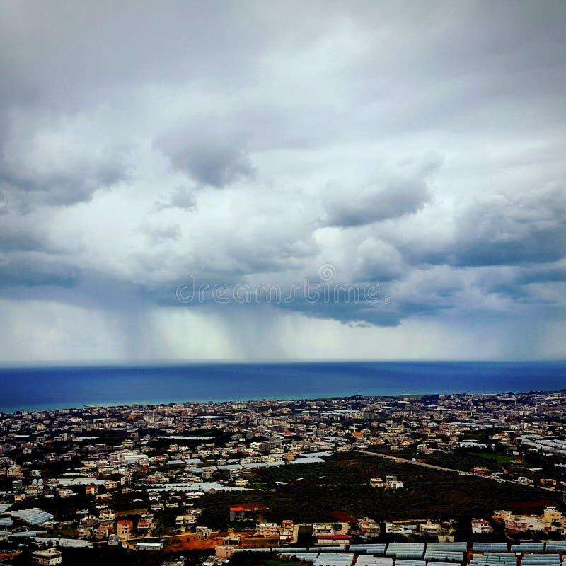 Βροχή θάλασσας στοκ φωτογραφία με δικαίωμα ελεύθερης χρήσης