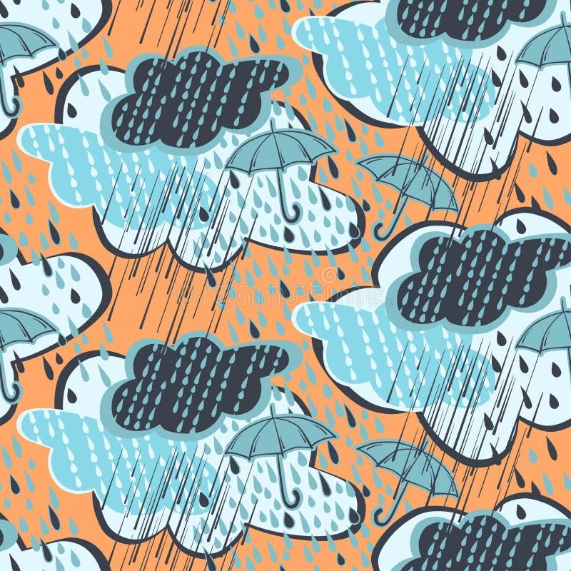 βροχή προτύπων άνευ ραφής ελεύθερη απεικόνιση δικαιώματος