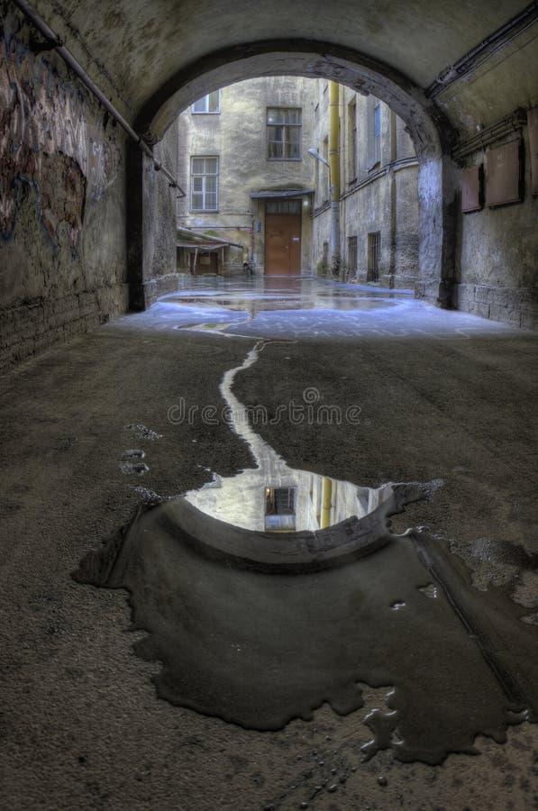 βροχή φωτογραφιών δικαστ&e στοκ φωτογραφία