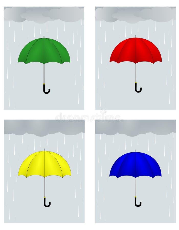 βροχή διανυσματική απεικόνιση
