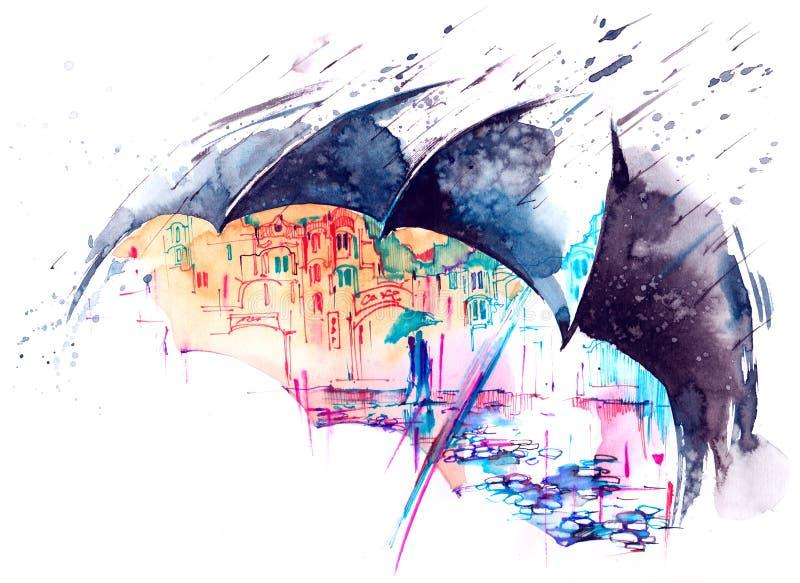 βροχή ελεύθερη απεικόνιση δικαιώματος