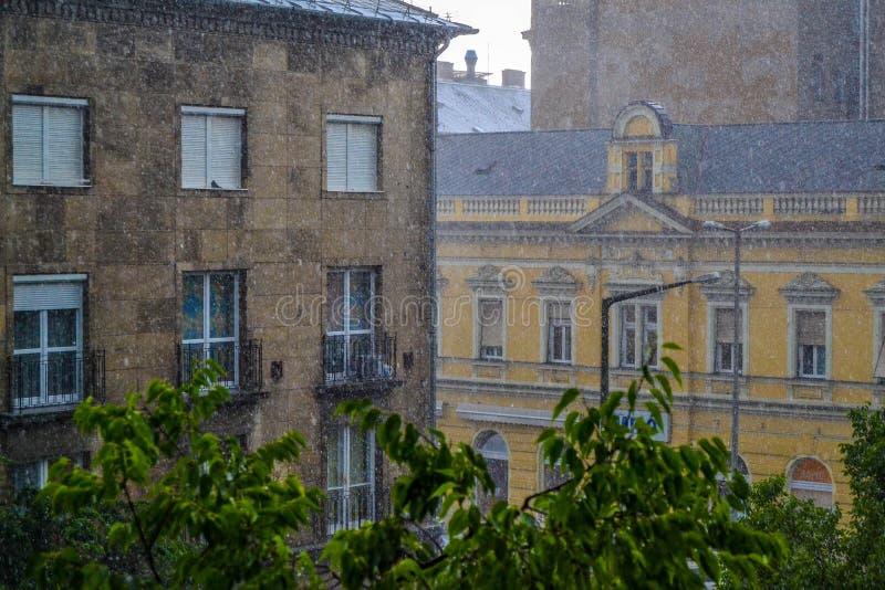 Βροχή Debrecen στοκ εικόνες