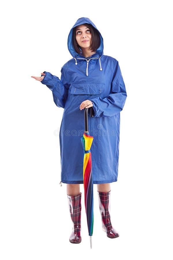 βροχερή γυναίκα στοκ εικόνα με δικαίωμα ελεύθερης χρήσης