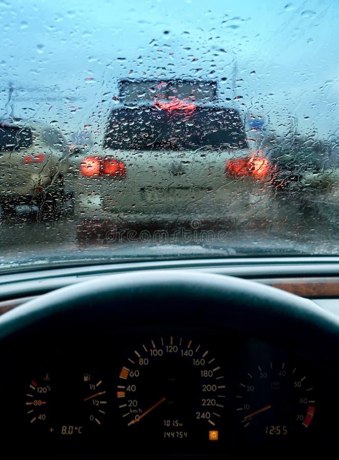 βροχερή κυκλοφορία μαρμ& στοκ εικόνα