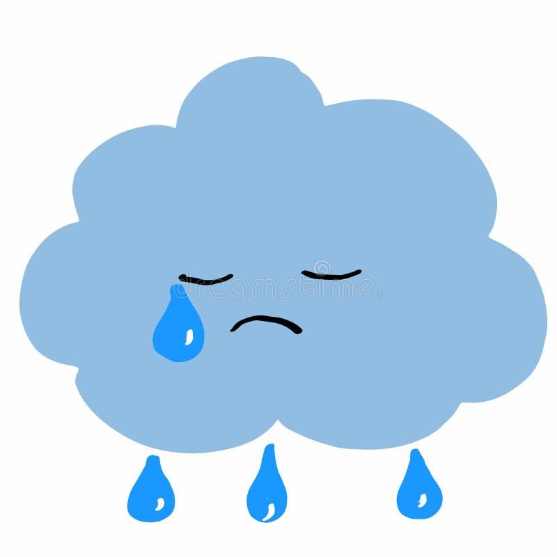 Βροχερό άσπρο υπόβαθρο απεικόνισης σύννεφων απεικόνιση αποθεμάτων