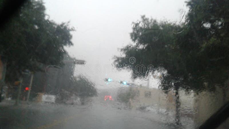 Βροχερό στο κέντρο της πόλης San Antonio στοκ φωτογραφία με δικαίωμα ελεύθερης χρήσης